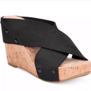 Lucky Brand Wedge Sandals Miller black Size:7.5